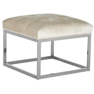 Safavieh Couture High Line Collection Sidney White Velvet Ottoman