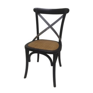 Black Wooden Dining Chair - Set of 2