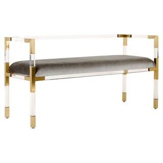 Safavieh Couture High Line Collection Anastasia Grey Acrylic Bench