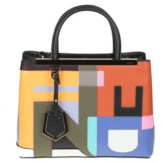 Fendi 2Jours Elite Black Leather Shopper Handbag