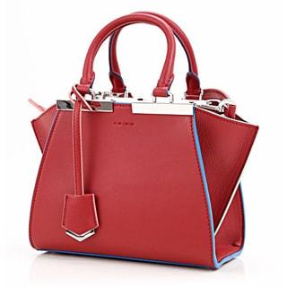 Fendi Mini 3Jours Calfskin Leather Shopper Handbag