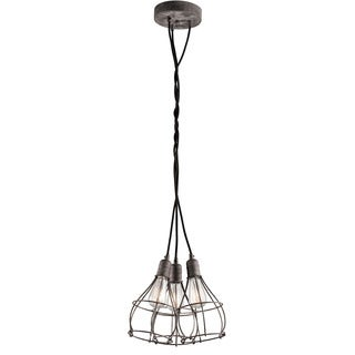 Kichler Lighting Industrial Cage Collection 3-light Weathered Zinc Pendant