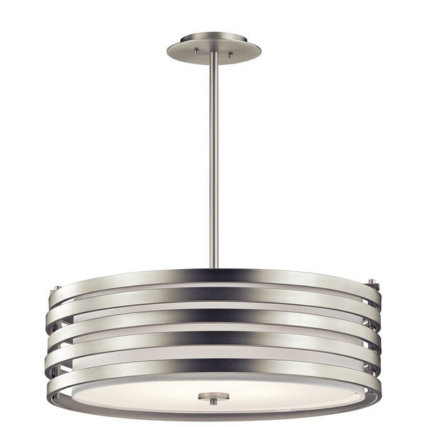 Kichler Lighting Reviews: Shop Kichler Lighting Roswell Collection 4-light Brushed