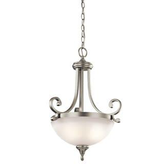 Kichler Lighting Monroe Collection 2-light Brushed Nickel Inverted Pendant