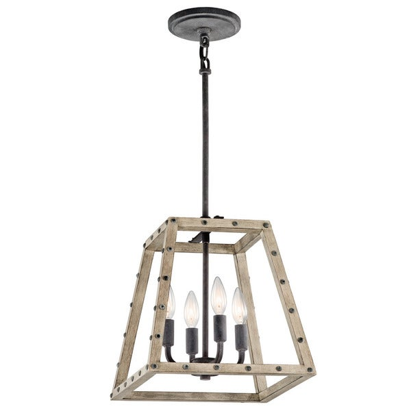 shop kichler lighting basford collection 4 light distressed antique