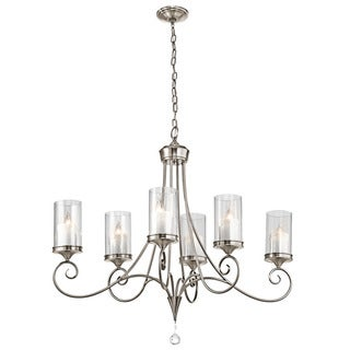 Kichler Lighting Lara Collection 6-light Classic Pewter Oval Chandelier