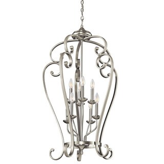 Kichler Lighting Monroe Collection 8-light Brushed Nickel Foyer Chandelier
