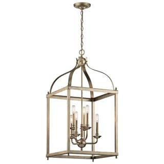 Kichler Lighting Larkin Collection 6-light Sterling Gold Foyer Chandelier