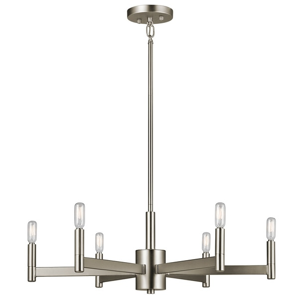 Kichler Lighting Erzo Collection 6 Light Satin Nickel Chandelier