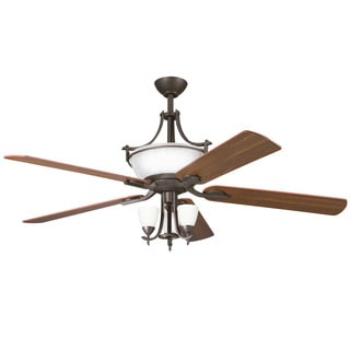 Kichler Lighting Olympia Collection 60-inch Olde Bronze Ceiling Fan w/Light