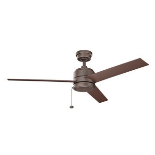 Kichler Lighting Arkwet Patio Collection 52-inch Weathered Copper Powder Coat Ceiling Fan