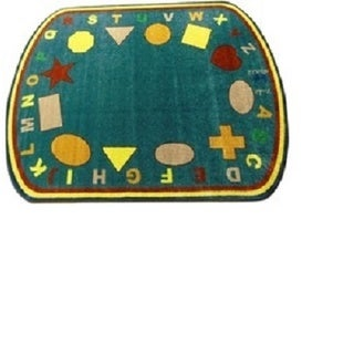 Kids World Earth Tones Nylon Machine-tufted Shapes Area Rug (6'6 x 8'4)