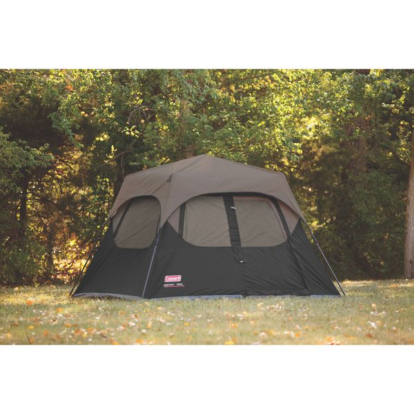Product Instant Tent : Coleman black nylon person instant tent rainfly