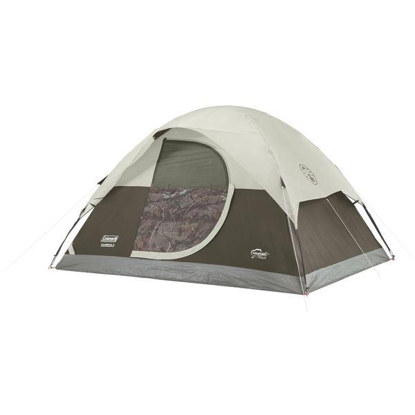 Coleman Realtree Xtra Off-white Nylon 4-person Dome Tent
