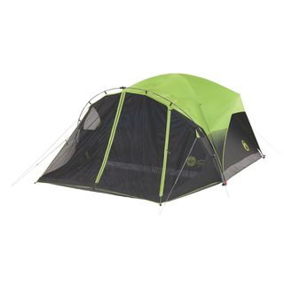 Coleman Carlsbad Fast Pitch Green Nylon 6-person Dome Tent With Screen Room  sc 1 st  Overstock.com & Top Product Reviews for Coleman Carlsbad Fast Pitch Green Nylon 6 ...