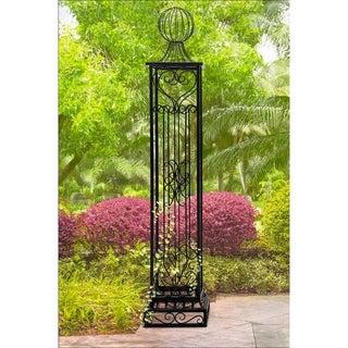 Sunjoy Norton Black Steel Garden Arbor Post