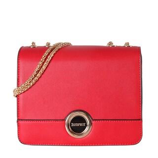 Diophy Front Logo Multi Spaced Small Shoulder Handbag