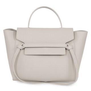 Celine Belt Medium Light Grey Leather Tote Bag