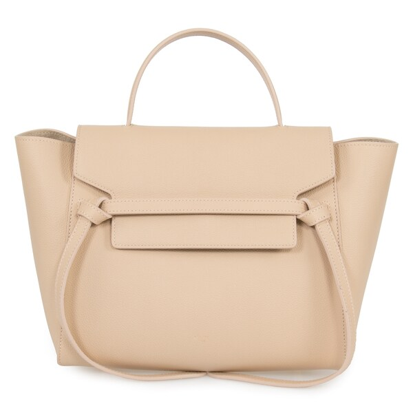 Celine Belt Medium Beige Leather Tote Bag