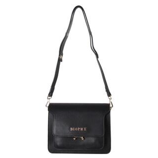 Diophy Front Metal Logo Multi Spaced Crossbody Handbag