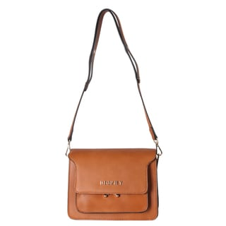 Diophy Front Metal Logo Multi Spaced Crossbody Handbag