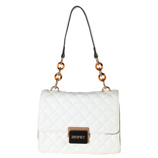 Diophy Quilted Pattern Small Womens Handbag