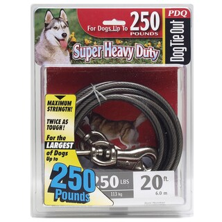 Boss Pet 20' Extra Extra Large Dog PDQ Cable Tie Out