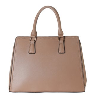 Diophy Saffiano Faux Leather Large Multi-spaced Practical Tote Handbag