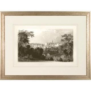 Art Virtuoso 'Watt's View' Black and White Framed Art Print