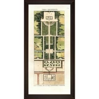 Art Virtuso 'Villa Garden Plans' Large Framed Art Print