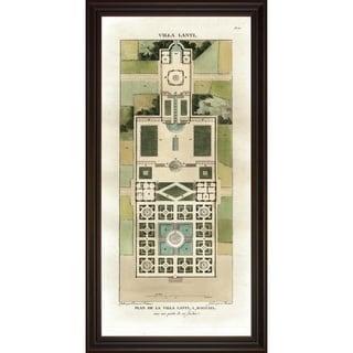 Art Virtuoso 'Villa Garden Plans' Large Framed Art Print