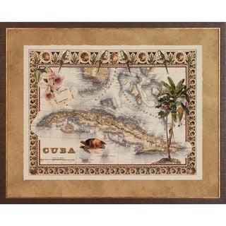 Art Virtuoso 'Tropical Maps' Framed Art Print
