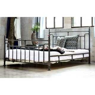 Furniture of America Revo Industrial Antique Black Metal Bed