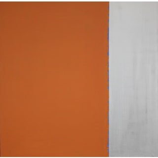 Art In Style 'Orange Stripe' Hand-painted Canvas Wall Art