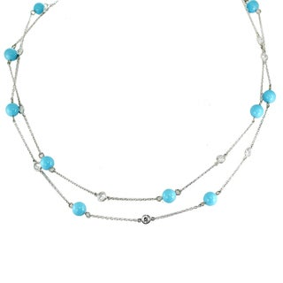 Michael Valitutti Palladium Silver Reconstituted Turquoise Necklace|https://ak1.ostkcdn.com/images/products/13779271/P20431437.jpg?_ostk_perf_=percv&impolicy=medium