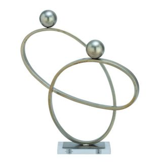Benzara Silver Metal Sculpture