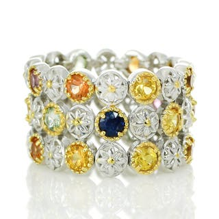 Michael Valitutti Palladium Silver Multi Sapphire Flex Band Ring https://ak1.ostkcdn.com/images/products/13779730/P20431932.jpg?impolicy=medium