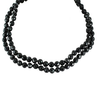 Michael Valitutti Sterling Silver Black Onyx and Cubic Zirconia Necklace