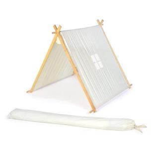 Trademark Innovations White Canvas Fabric 3.5-foot Customizable A-frame Teepee with Carry Case