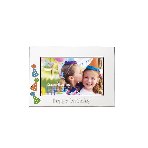 Reed & Barton Let's Celebrate Silver-tone Metal 4-inch x 6-inch 'Happy Birthday' Frame