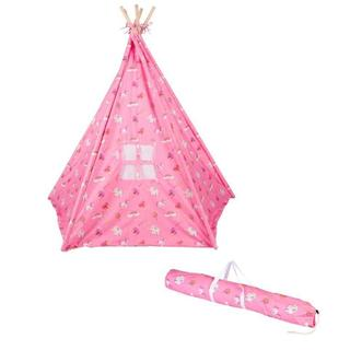 Trademark Innovations Canvas Fabric 6-foot Princess Print Teepee with Carry Case