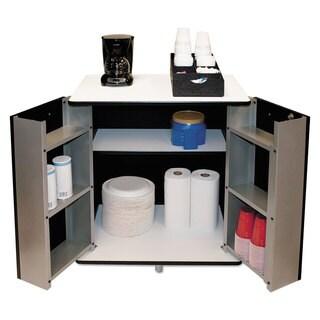 Vertiflex Refreshment Stand, Two-Shelf, 29 1/2w x 21d x 33h, Black/White