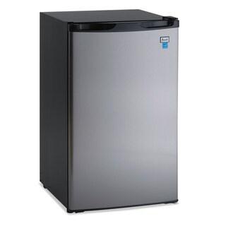 "Avanti 4.4 CF Refrigerator, 19 1/2""W x 22""D x 33""H, Black/Stainless Steel"