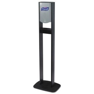 PURELL Elite TFX Floor Stand Dispenser Station, F/1200mL Refills, Chrome/Black, 2/Crtn