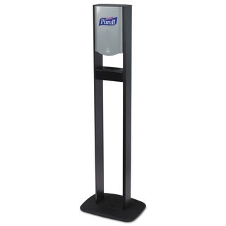 PURELL Elite TFX Floor Stand Dispenser Station, F/1200mL Refills, Chrome/Black, 2/Crtn