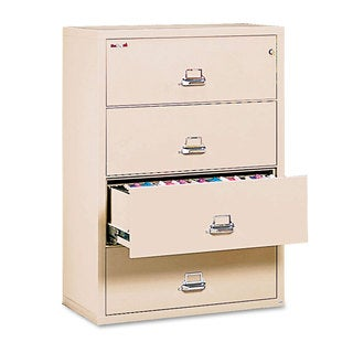 FireKing Four-Drawer Lateral File Cabinet, 31-1/8 x 22-1/8, UL Listed 350°, Letter/Legal