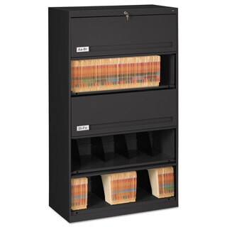 Tennsco Closed Fixed Shelf Lateral File Cabinet, 36w x 16 1/2d x 63 1/2