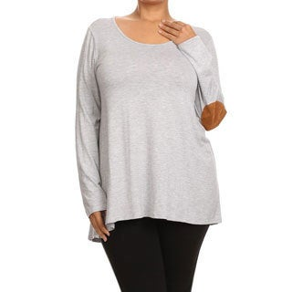 Women's Rayon and Spandex Plus-size Tunic Top
