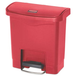 Rubbermaid Commercial Slim Jim Resin Step-On Container, Front Step Style, 4 gal