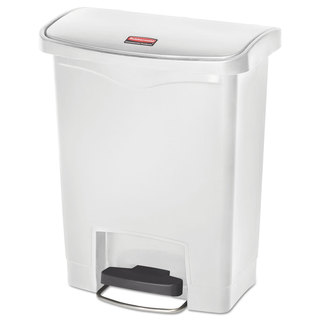 Rubbermaid Commercial Slim Jim Resin Step-On Container, Front Step Style, 8 gal